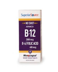 SuperiorSource ADVANCED B12-VITAMIINI |2000 µg-B6(P-5-P)-foolihappo 600 µg