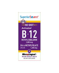 SUPERIOR S B12 2000, B6 & METHYLFOLATE