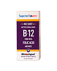 Superior Source B12 1000µg + Foolihappo 400 µg