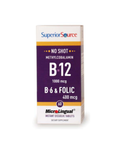 SuperiorSource B12 1000mcg+B6+Foolihappo 400mcg