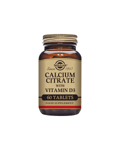 SOLGAR CALCIUM CITR WITH VIT D 60TABL
