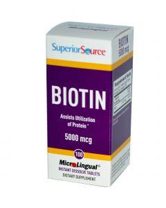 SuperiorSource Biotin 5000mcg