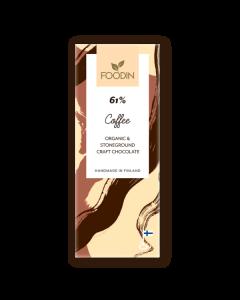 FOODIN RAAKASUKLAA COFFEE 61% 40G